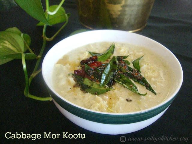 images for Mor Kootu Recipe / Cabbage More Kootu Recipe