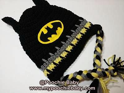 Free Crochet Pattern For Infant Batman Hat : Raising Mimi @PoochieBaby: December 2013