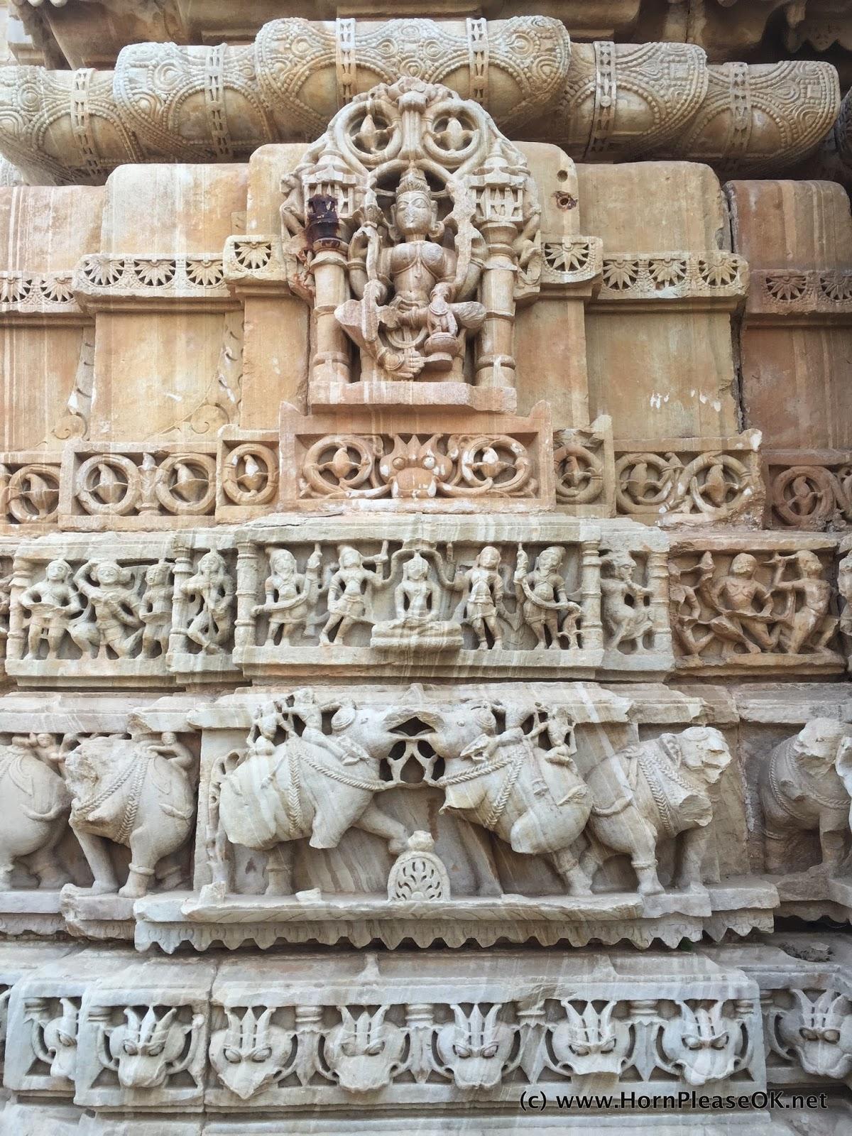 Defaced Jain Temple inside Chittorgarh Fort
