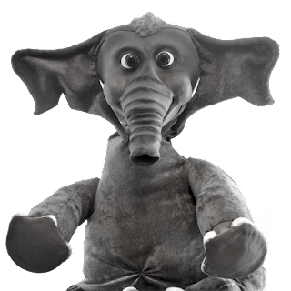 elephant latex puppet