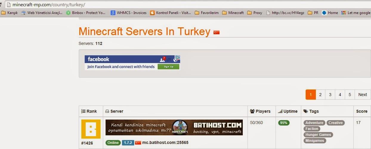 minecraft serverler