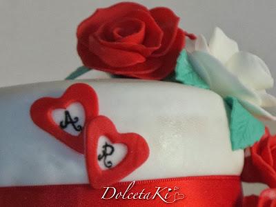 torta nuziale cuori