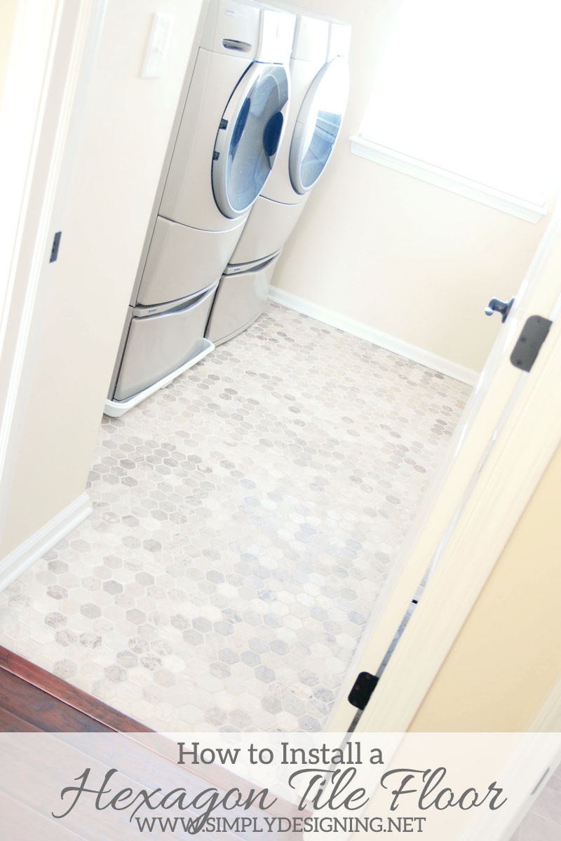 Hexagon laundry room tile thetileshop thetileshop install hexagon tile floors a complete tutorial for how to demo prep install dailygadgetfo Image collections