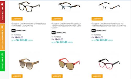loja de oculos online