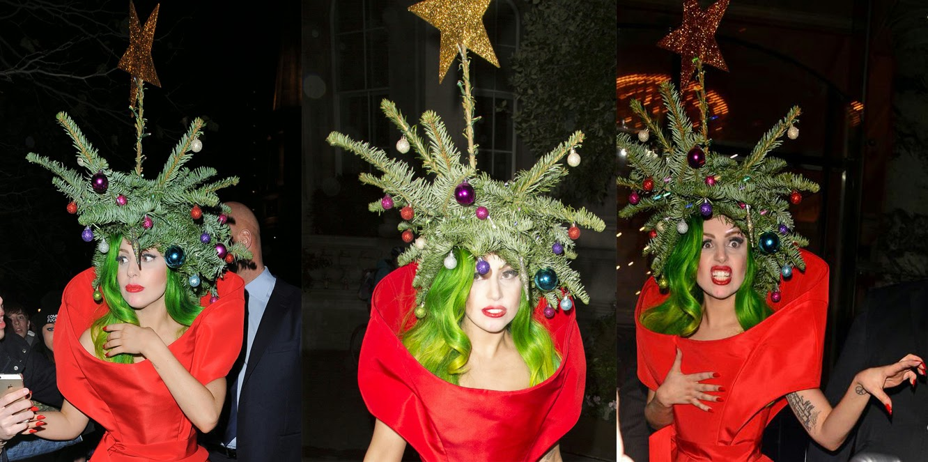Lady Gaga Halloween Christmas tree