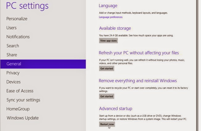 cara masuk ke menu safe mode di windows 8