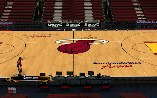 NBA 2K13 Miami Heat 2012-2013 New Court Mods