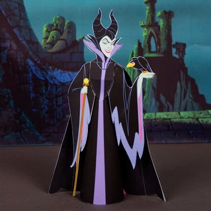 Maleficent 3D Papercraft - Sleeping Beauty