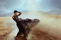 Rihanna in the desert