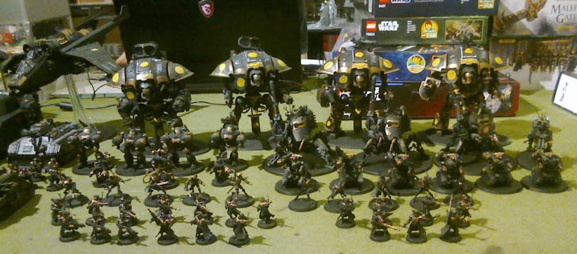 Imperial Knights, Astra Militarum, Deathwatch and Thousand Sons