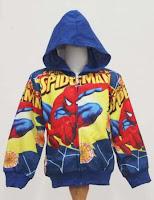 Jaket Spiderman untuk usia 4-6 thn