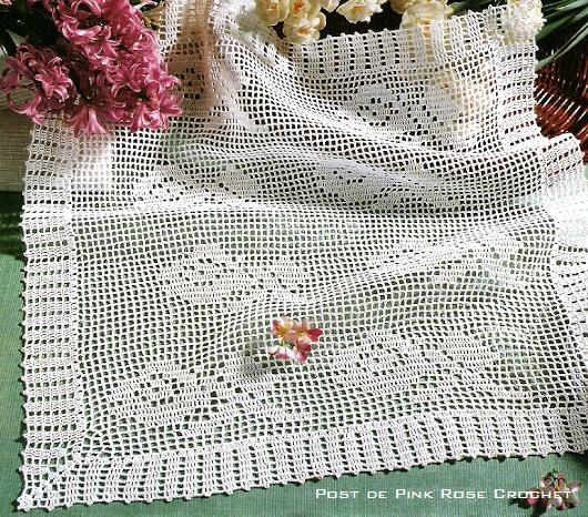 Centros de mesa em crochet car interior design for Centro de mesa a crochet