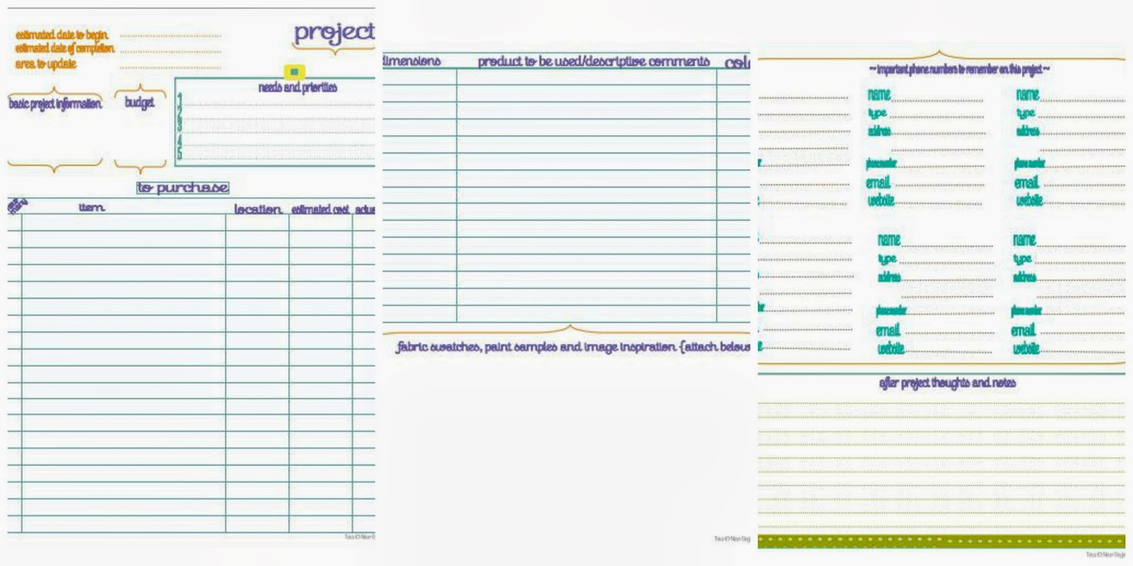 I heart crafting how to create a home management binder for Home project planner