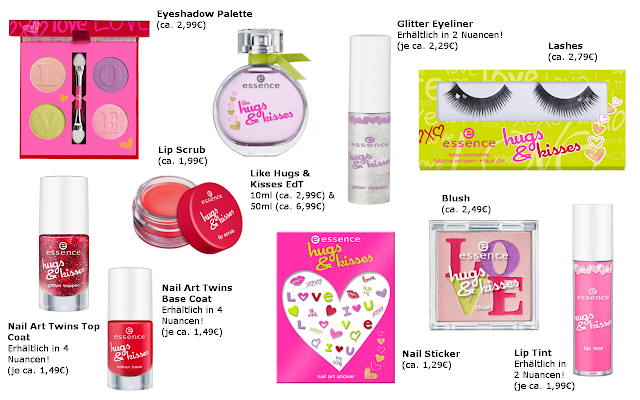 Preview - essence Hugs & Kisses - limited Edition (LE) - Januar 2013