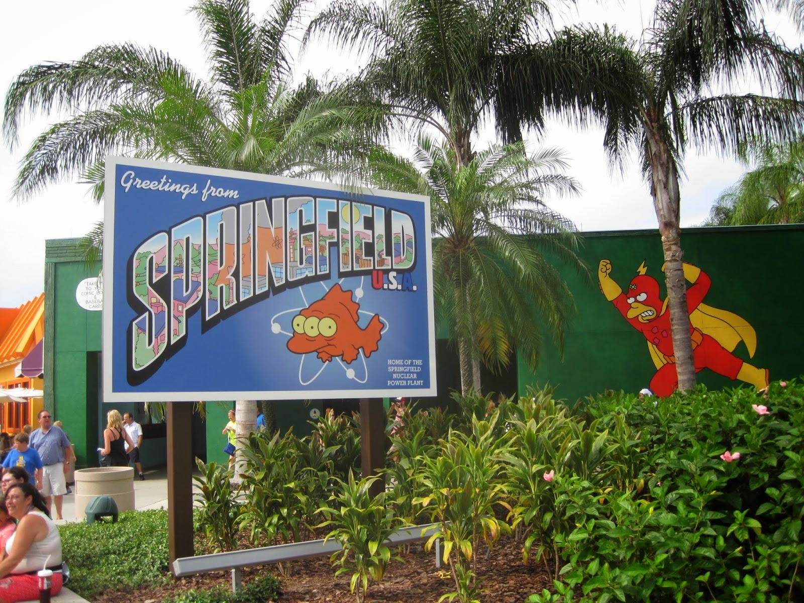 universal studios orlando florida the simpsons springfield