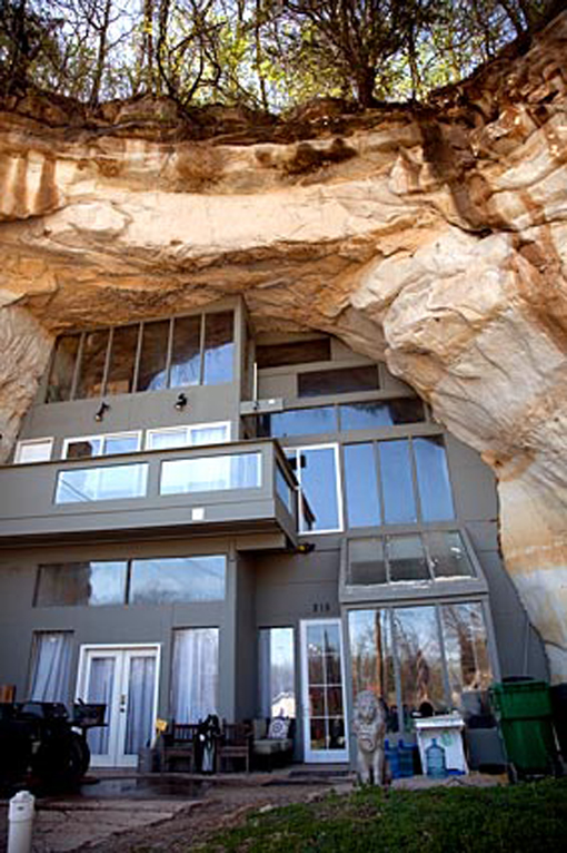 House Built into Cave