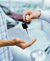 new car registration, handing keys over to new owner
