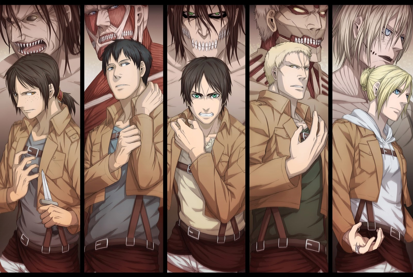 Kinds Of Titan Shingeki No Kyojin HD Wallpaper 1208