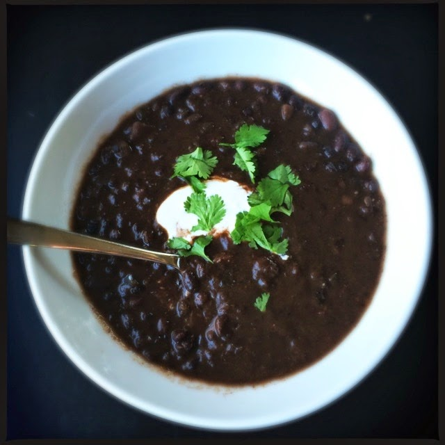 Homemade Black Bean Soup || The Graffitied Gardenia blog