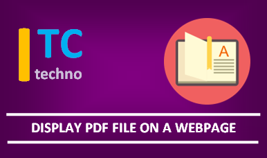 how to display a pdf document on a webpage
