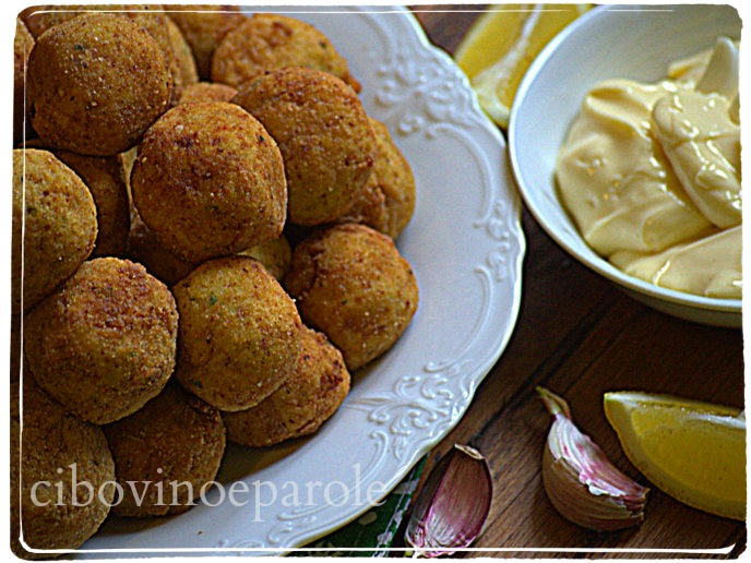 Cod  and potato croquettes