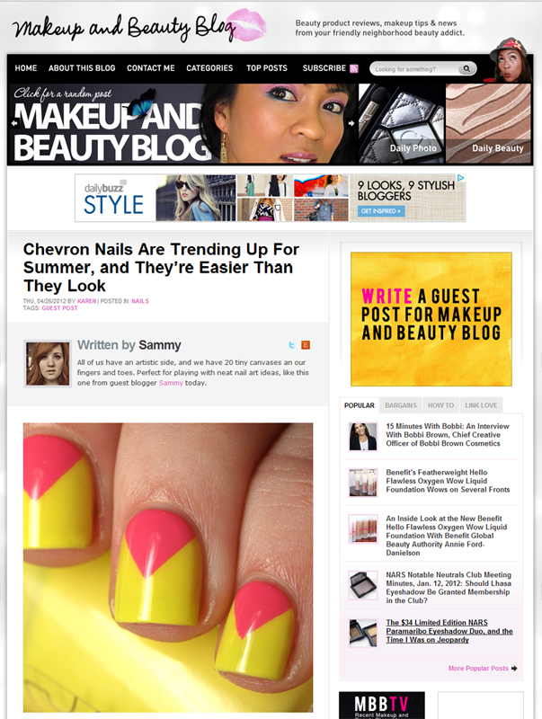Chevron Nail Tutorial Guest Post