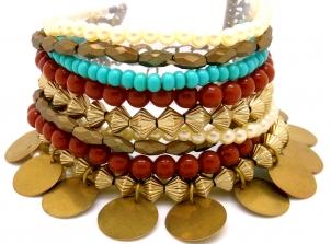 pulseira colorida