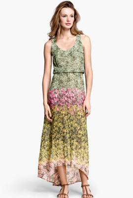 vestido largo estampado verano 2013 H&M