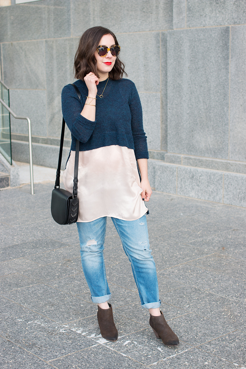 How to style a layered sweater