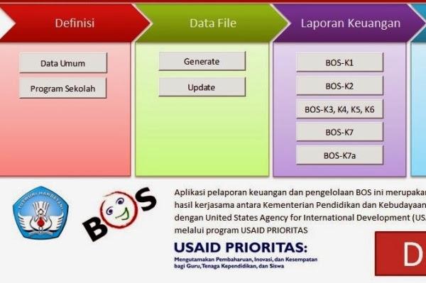Aplikasi ini untuk memudahkan dalam penyusunan laporan dana BOS.