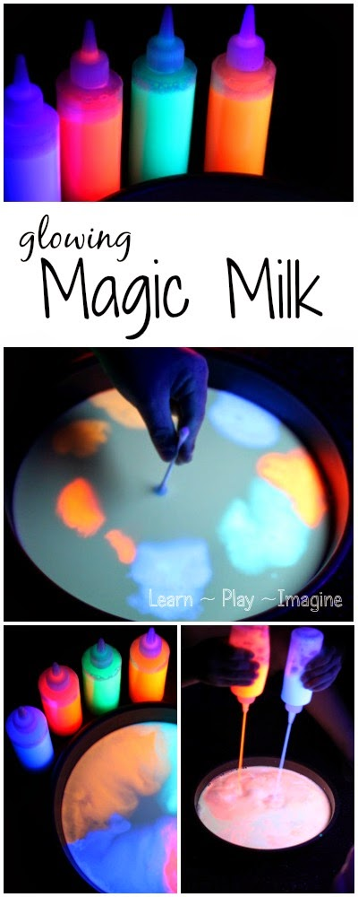 Put a GLOWING spin on a classic science activity for kids with glowing magic milk.