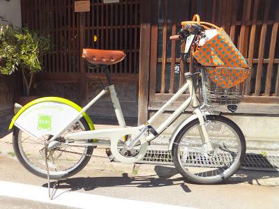 Even locals are using Machinori bicycles for shopping runs in Kanazawa