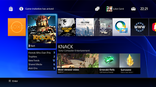tampilan PS4 Interface PlayStation 4