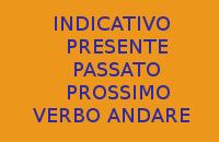 VERBO ANDARE - 10 FRASI CON INDICATIVO PRESENTE E PASSATO PROSSIMO