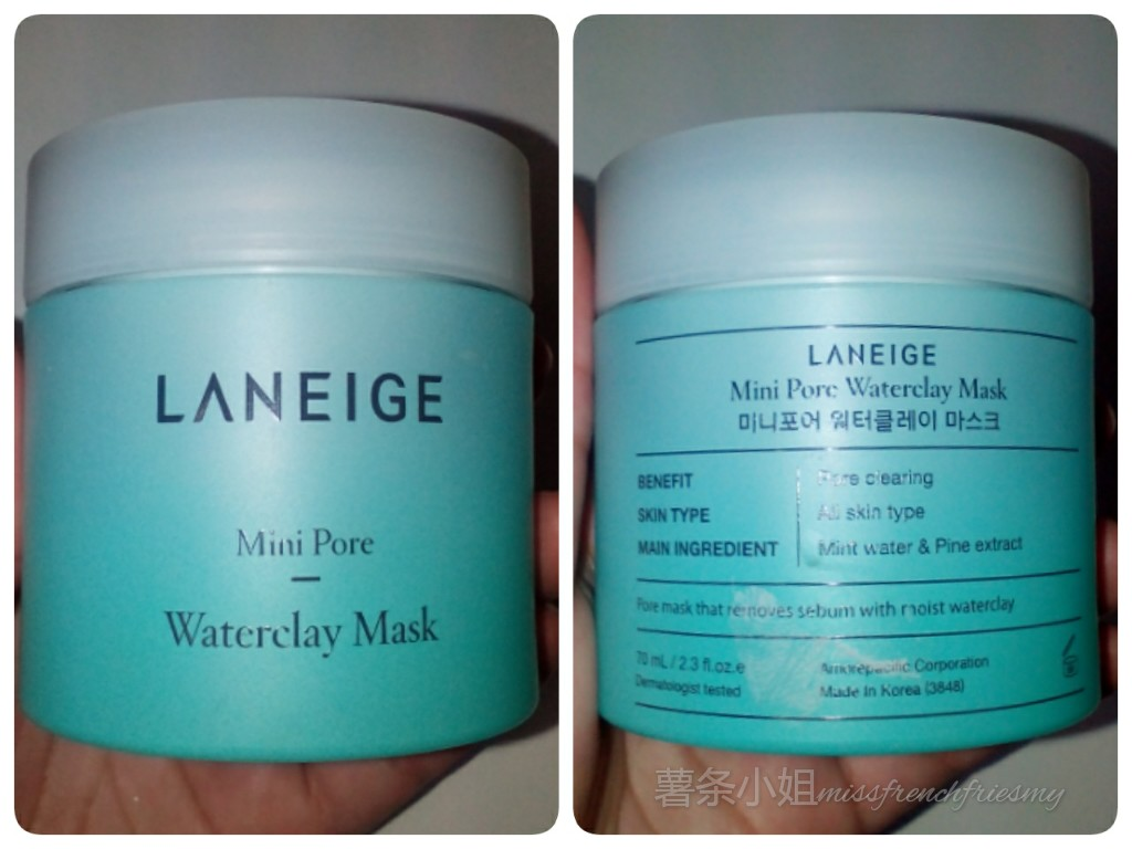 Review Laneige Mini Pore Waterclay Mask Wateclay