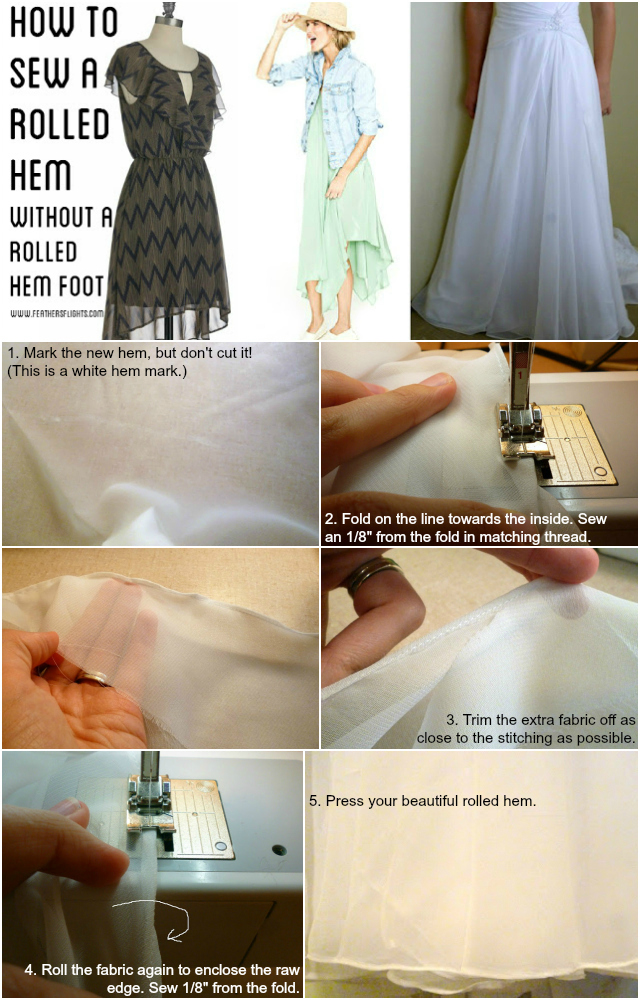 feathers flights sewing blog sewing 101 how to sew a rolled hem. Black Bedroom Furniture Sets. Home Design Ideas