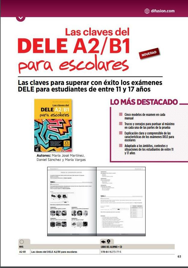 Las claves del DELE A2/B1 escolar