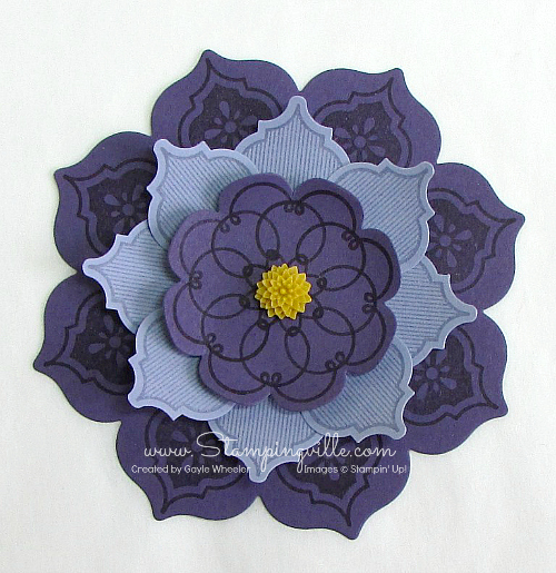 Stampin' Up! mosaic punch flower