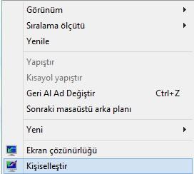 Windows 8 Kişiselleştirme