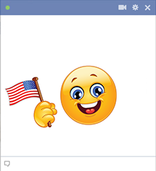 American patriot smiley
