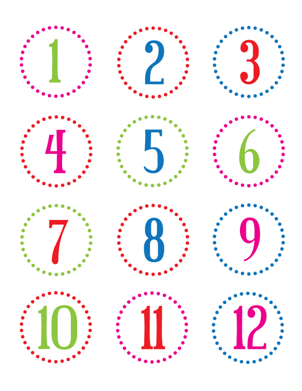 Mesmerizing image throughout printable number tags