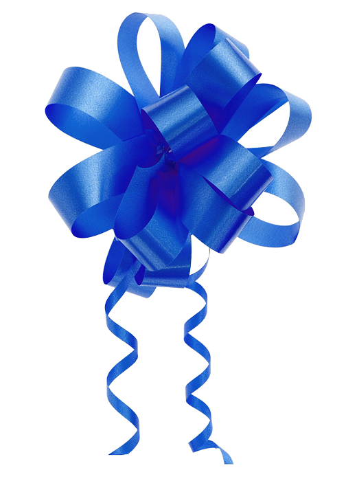 cinta azul de regalo