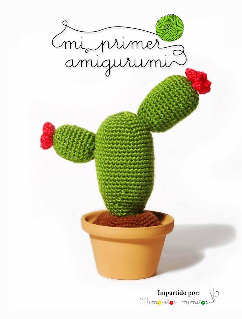 curso online Mi primer amigurumi crochet ganchillo craft DIY manualidades talleres virtual cactus amigurumis