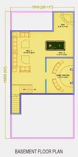 Golf Country, Yamuna Expressway :: Floor Plans,Golf Villa (150 sq. yd.):-Basement Floor Plot Area: 780.7 Sq. Ft.