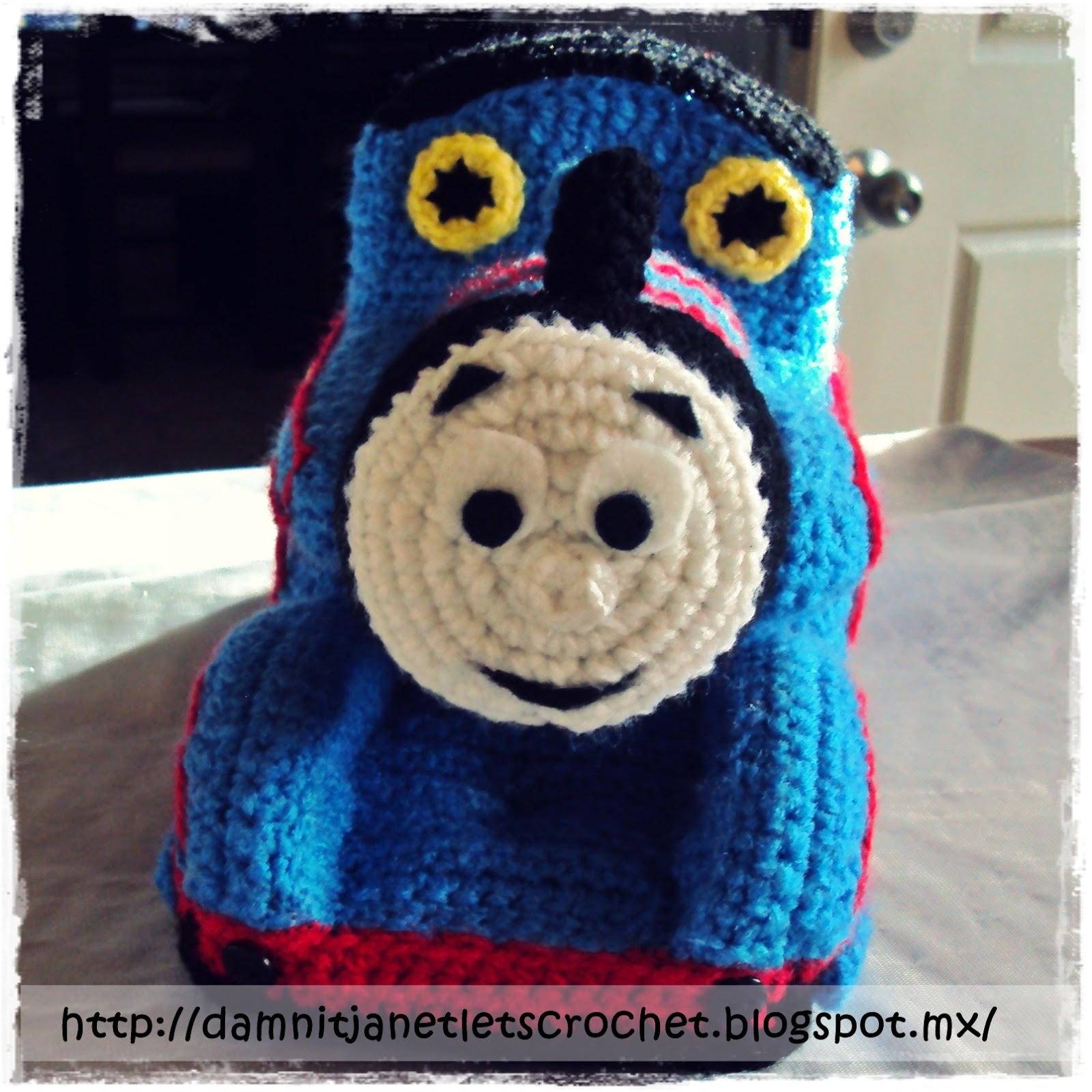 Free Crochet Hat Pattern For Thomas The Train : damn it Janet, lets crochet!: Thomas beanie and amigurumi
