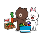 emoticones de parejas comprando