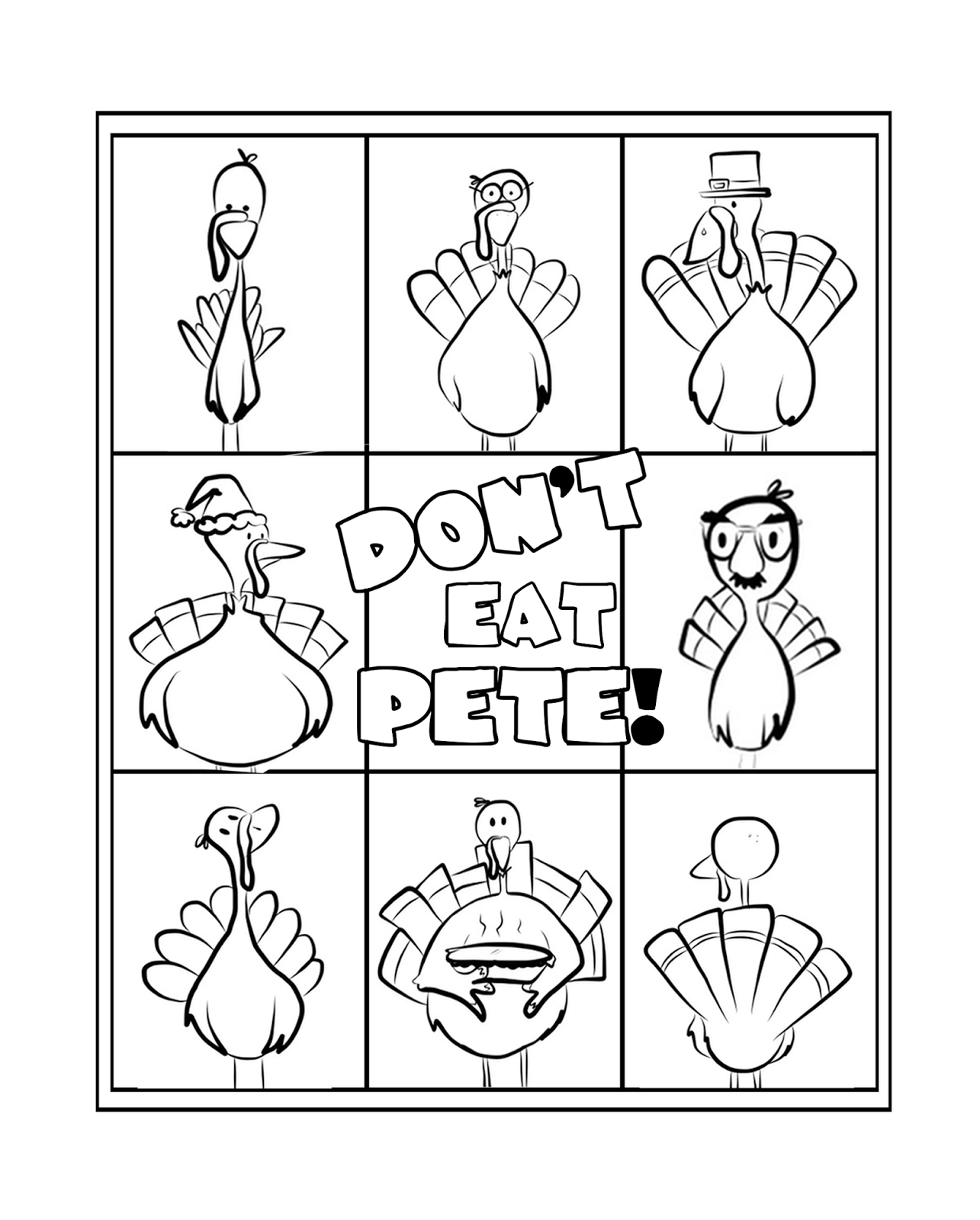 photograph relating to Don't Eat Pete Printable named Dont Try to eat Pete!