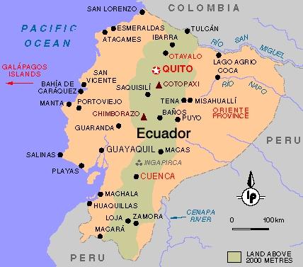 mapa de cuenca ecuador