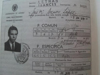 Aznar no alcanzó la que ahora es nota media mínima para optar a beca