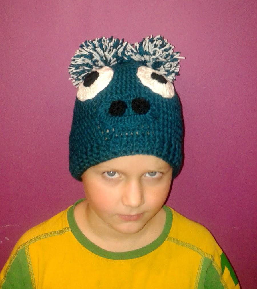 szydełkowa czapka Angry Birds